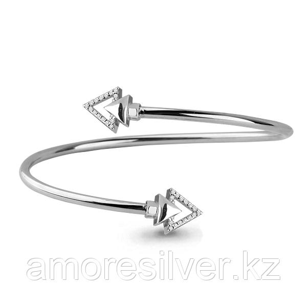 Браслет Аквамарин серебро с родием, фианит 74160А.5