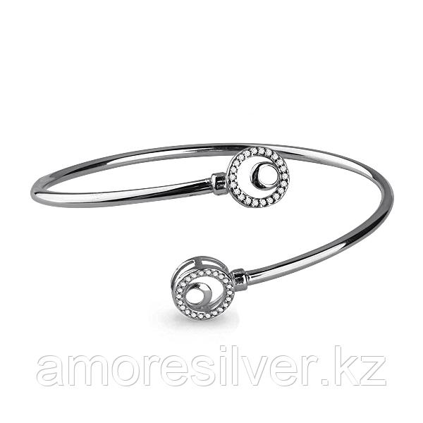 Браслет Аквамарин серебро с родием, фианит 74163А.5