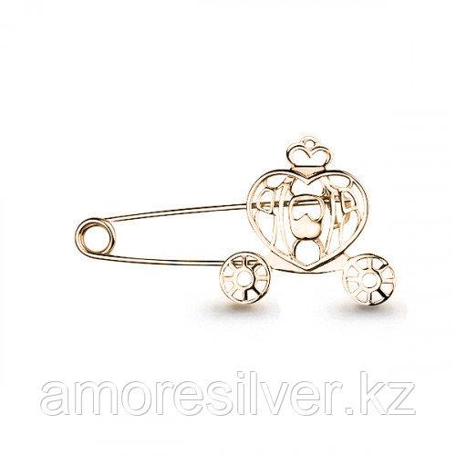 Брошь Aquamarine серебро с позолотой, без вставок, символы 72684.6