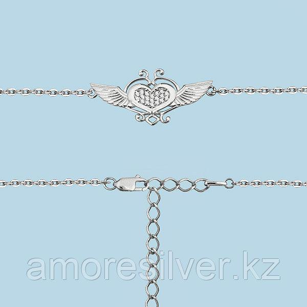 Браслет Aquamarine серебро с родием, фианит, геометрия 74143А.5