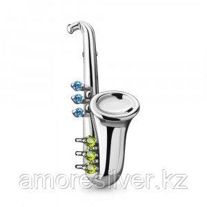 Брошь Aquamarine серебро с родием 7269131.5