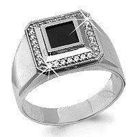 Кольцо Aquamarine серебро с родием 62125Ч.5 размеры - 18,5