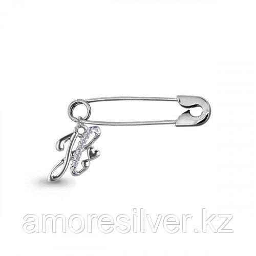 Брошь Aquamarine серебро с родием, фианит, символы 72711А.5