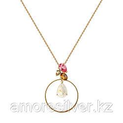 Колье SOKOLOV серебро с позолотой, кристалл swarovski , флора 93070036 размеры - 40 45 50 55