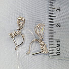 Серьги SOKOLOV серебро с родием, фианит  94021931, фото 5