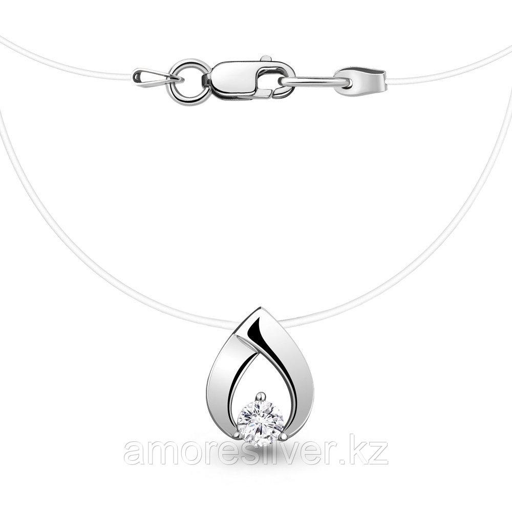 Колье Aquamarine серебро с родием, фианит 73607А.5