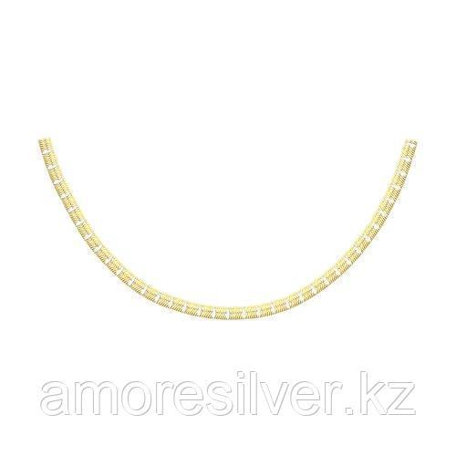 Колье SOKOLOV серебро с позолотой, без вставок 94074503 размеры - 40
