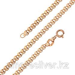 Цепь Красцветмет серебро с позолотой, без вставок, лав НЦ 22-087-4-040 размеры - 40 45 50 55 60