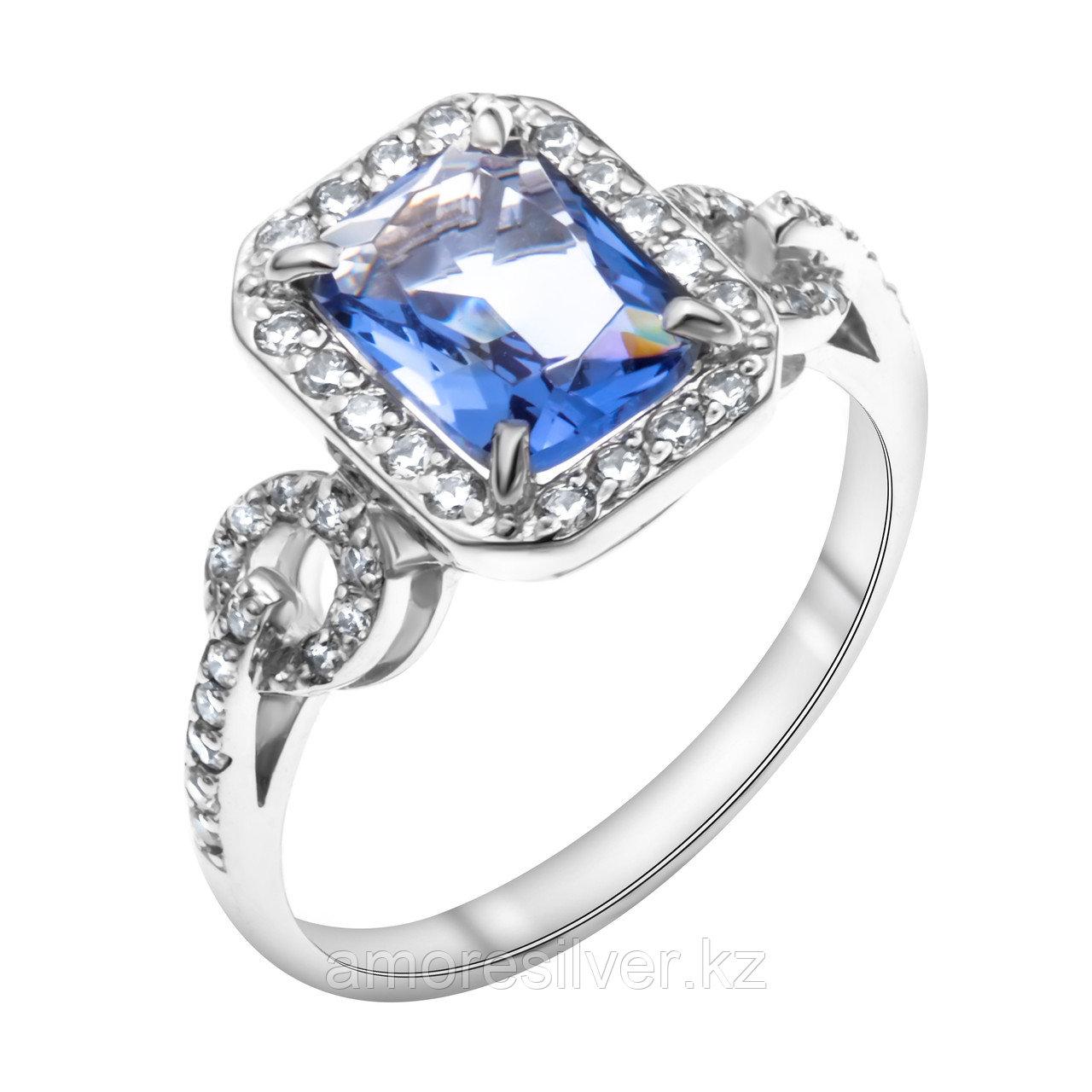 """Кольцо TEOSA серебро с родием, фианит, """"halo"""" 100-747-TAN размеры - 17,5"""