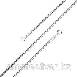Цепь Красцветмет серебро с родием, без вставок, якорная НЦ 22-053-3-035 размеры - 40 45 50 55 60