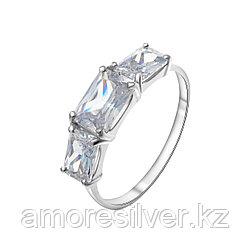 Кольцо TEOSA серебро с родием, фианит синт., многокаменка 100-1329 размеры - 16,5 17,5