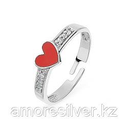 Кольцо TEOSA серебро с родием, фианит эмаль К638-1149М1 размеры - 14,5