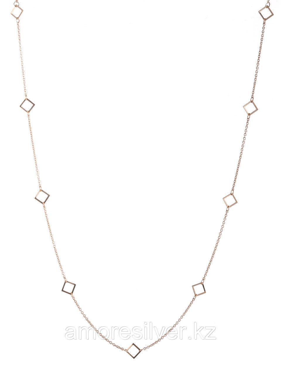 Колье Адамант серебро с позолотой, без вставок Ср925П-843703040 размеры - 40