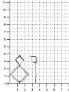 Серьги Красная пресня серебро с родием, без вставок, с английским замком, геометрия 33012136Д, фото 2