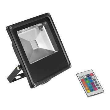 Прожектор светодиодный 20W, COB LED, с пультом, IP66, 220 В, RGB