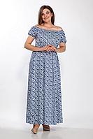 Женское летнее льняное платье LaKona 1379 голубой 48р.