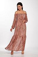 Женское летнее льняное платье LaKona 1380 леопард 44р.