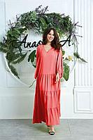Женское летнее красное платье Anastasia 626 красный 50р.