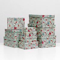 "Набор коробок 10 в 1 ""Sweet christmas"", 30,5 х 20 х 13 - 12 х 6,5 х 4 см"