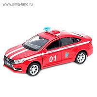 Коллекционная модель машины LADA Vesta «Пожарная охрана», масштаб 1:34-39