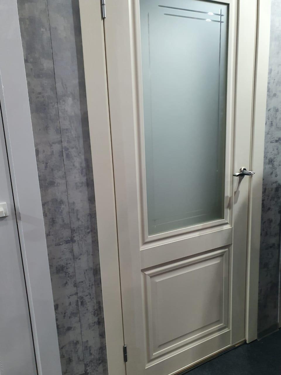 """Дверь межкомнатная остекленная """"Венеция 4"""" магнолия - фото 1"""
