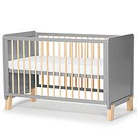 Детская кроватка с матрасом NICO Grey (Kinderkraft, Германия)