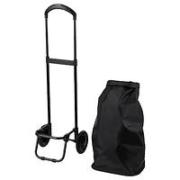 Сумка хозяйственная на колесиках РАДАРБУЛЛЕ  черный 33x24x68 см/38 л IKEA ИКЕА