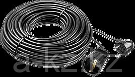 Удлинитель-шнур ПВС 307-Ш, 30 м, 2500 Вт, 1 гнездо, ПВС 3х0,75 мм2, ЗУБР