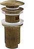 Донный клапан Alca Plast ANTIC сифона для умывальника, ц-мет. с переливом и большой загл бронза A392