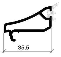 Штапик 35,5 мм (стекло 4 мм) 3-1355