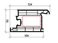 Дверная створка внутр. открывания 124 мм galwin-70 3-1104