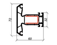 Импост 72 мм ROSSI V-60 3-2003