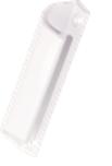 Ручка ПВХ балконная С алюминиевая Akpen 3-4108