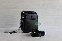 Мужская кожаная сумка барсетка через плечо