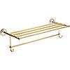 Полка для полотенец Fixsen Bogema Gold FX-78515G белый-золотистый