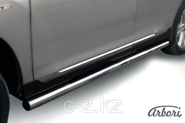 Защита порогов d76 труба Arbori нержавеющая сталь для Toyota HIGHLANDER 2010-2013, фото 2