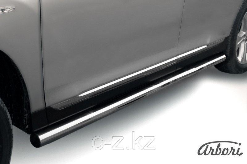Защита порогов d76 труба Arbori нержавеющая сталь для Toyota HIGHLANDER 2014-2016