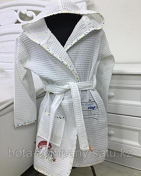 Детский вафельный халат