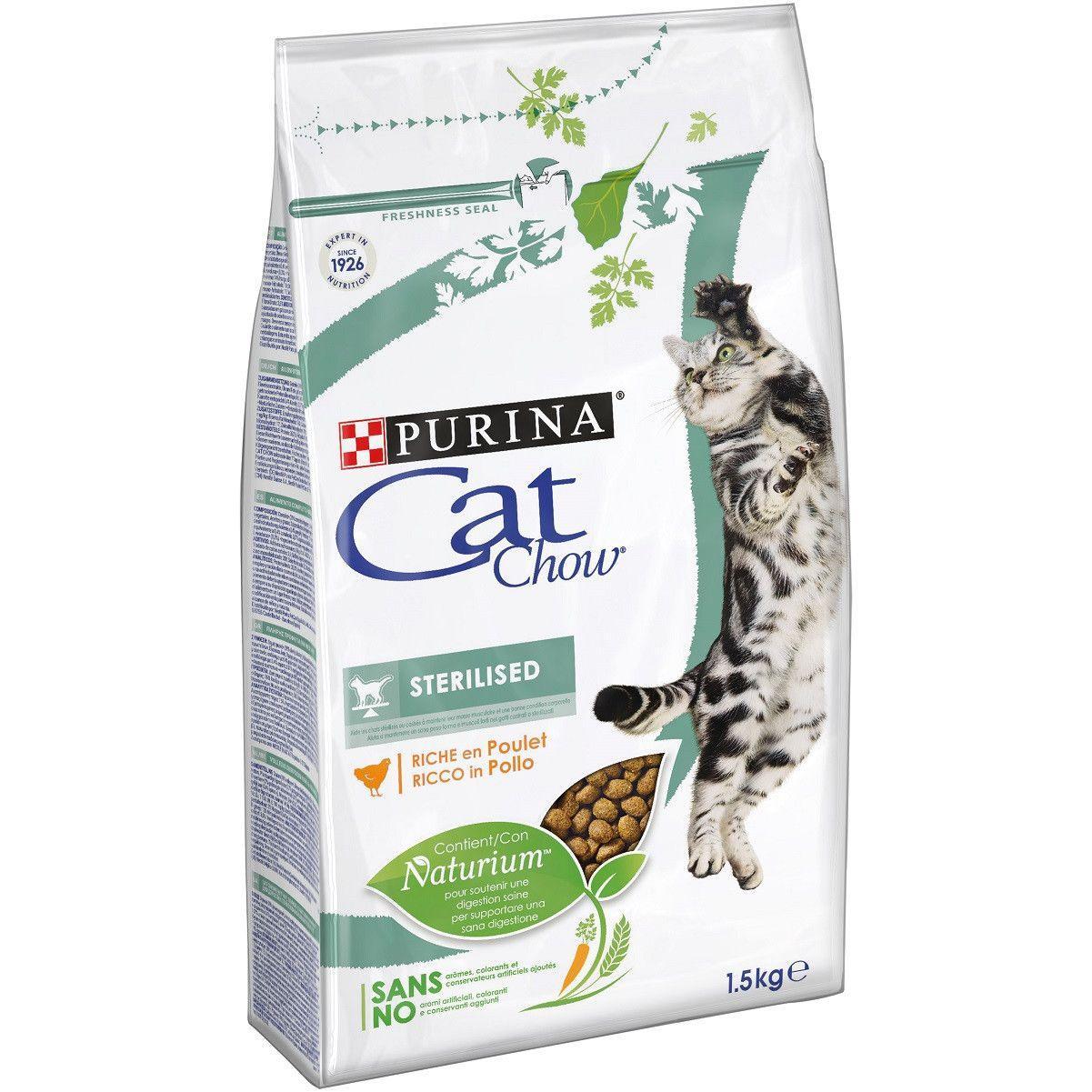 Сухой корм Cat Chow Sterilized для стерилизованных кошек, 1,5 кг