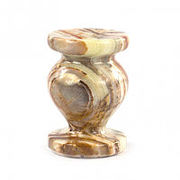 Подсвечник церковный круглый из камня оникс 3,1х4,6 см