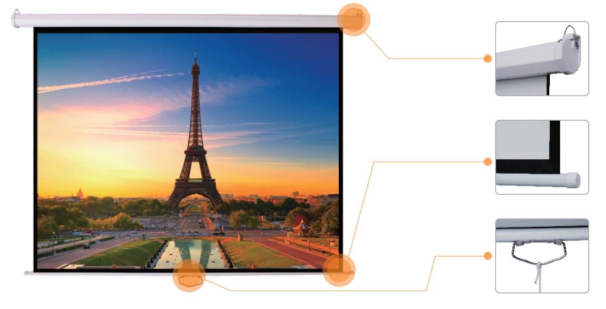 """Настенный экран Mr.Pixel 70"""" x 70"""" (MSPSBB96V2)"""