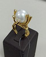 Кольцо с жемчугом Майорка / 17 размер