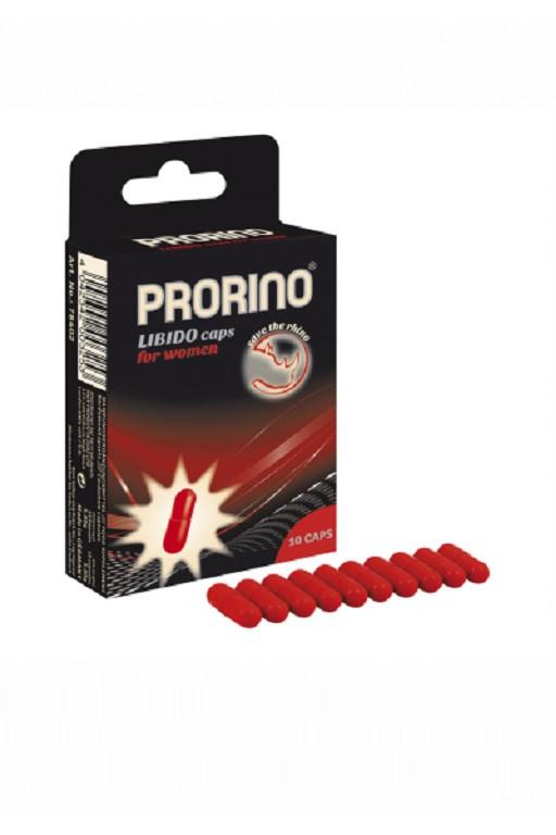 Возбуждающие капсулы ero black line PRORINO Libido Caps для женщин 10 капсул