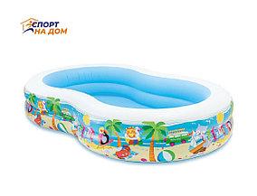 Надувной детский бассейн Intex 56490 (габариты: 262*160*46)
