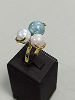 Кольцо с жемчугом Майорка / 18 размер