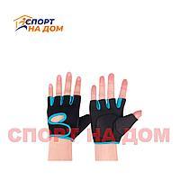 Перчатки для фитнеса SHENFEI черный ,голубой L)