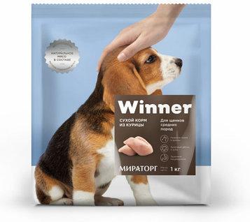 Winner Сухой корм для щенков средних пород, курица, 1 кг