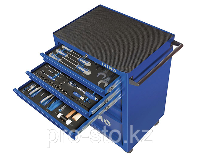 Инструментальная тележка с 6 ящиками (с ложементами с 206 предметами)