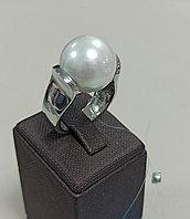Кольцо с жемчугом Майорка / 19 размер