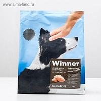 Winner Сухой корм для собак средних пород, курица, 3 кг